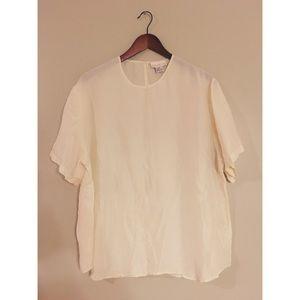 Vintage Cream Short Sleeve Top